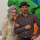 Ewa and Vadim at Jeff Koons exhibition London